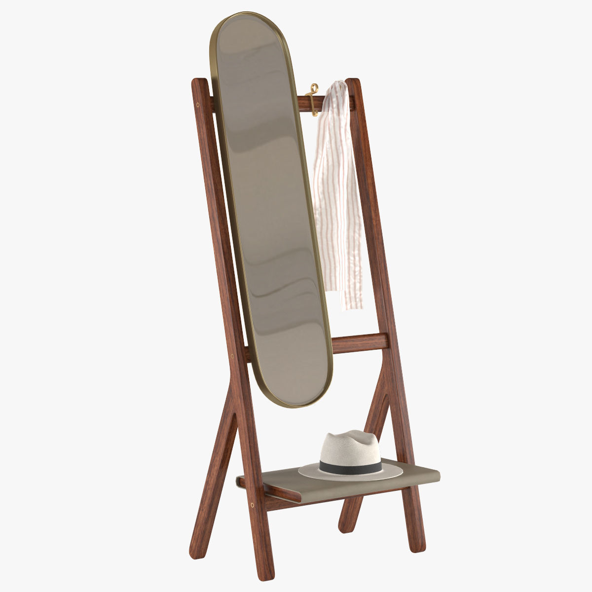 Standing Mirror Poltrona Frau Standing Mirror 3d Model
