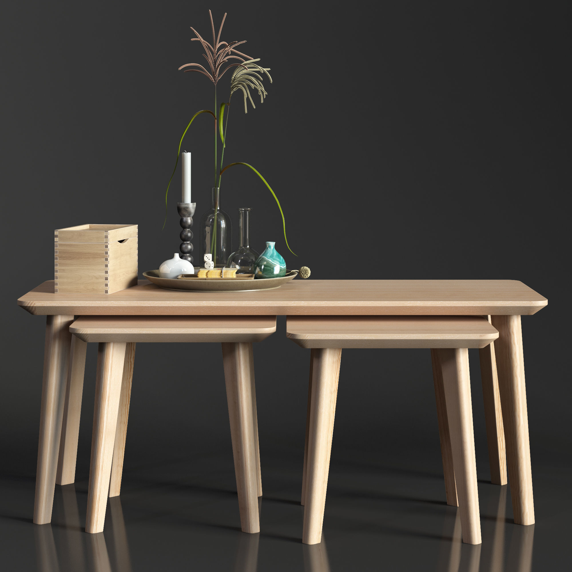 Ikea Table Ikea Lisabo Coffe Table 3d Model