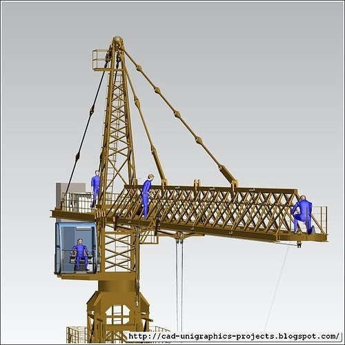 3d Modeling Wallpaper Solidworks Tower Crane Assembly 3d Model Cgtrader