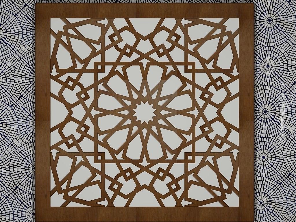 Arabesque art 3D Model 3D printable STL DWG