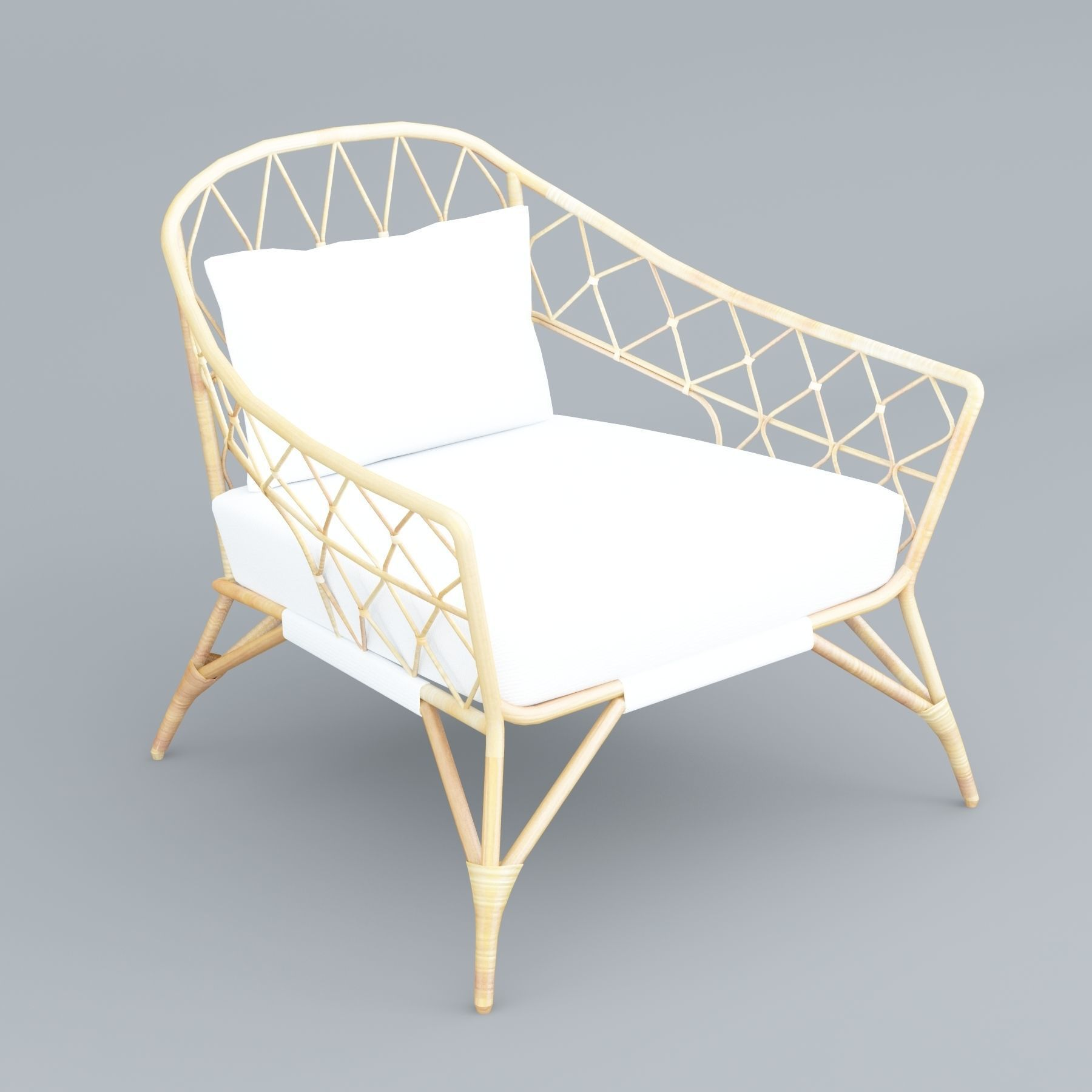 Rattan Ikea Stockholm Ikea Rattan Chair 3d Model