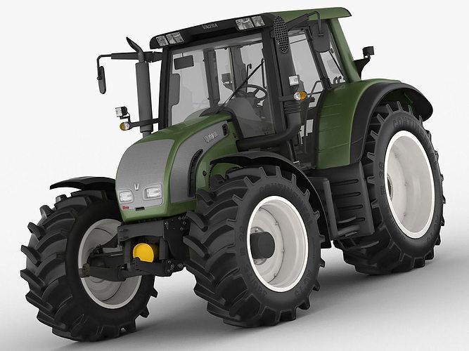 3d Model Valtra N142 Tractor Cgtrader