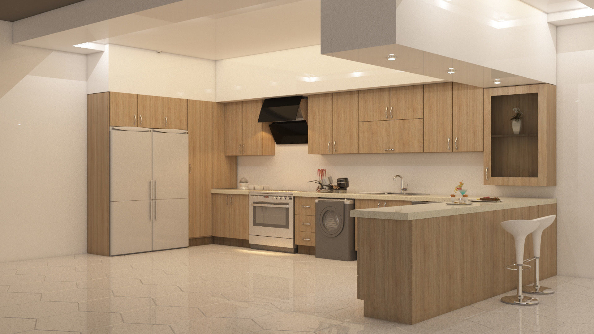 Kitchen Design 3d Model Kitchen Design 3d Asset Cgtrader