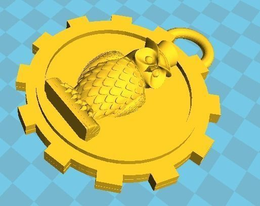 This is 3D printable key holder model with an owl 2