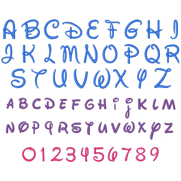 Disney Font by Concord Collections Home Format Fonts on