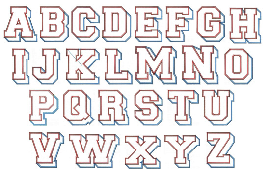 block letter styles - Pinarkubkireklamowe