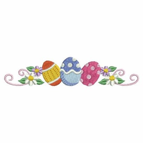 Easter Eggs Border Embroidery Designs, Machine Embroidery Designs at