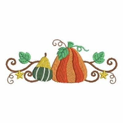Autumn Harvest Border Embroidery Designs, Machine Embroidery Designs