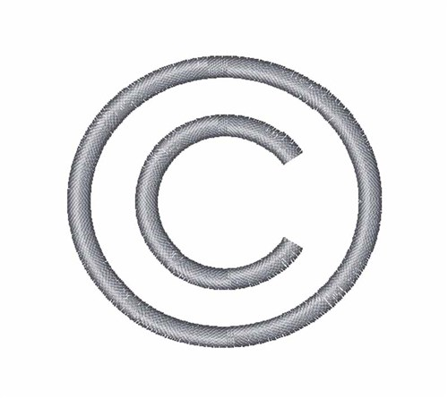 Copyright Symbol Embroidery Designs, Machine Embroidery Designs at