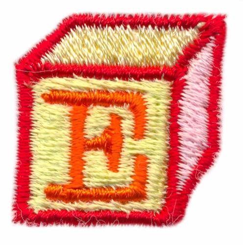 Building Block Letter E Embroidery Designs, Machine Embroidery