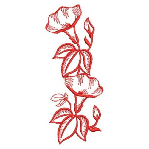 Morning Glory Vertical Embroidery Designs, Machine Embroidery - vertical designs