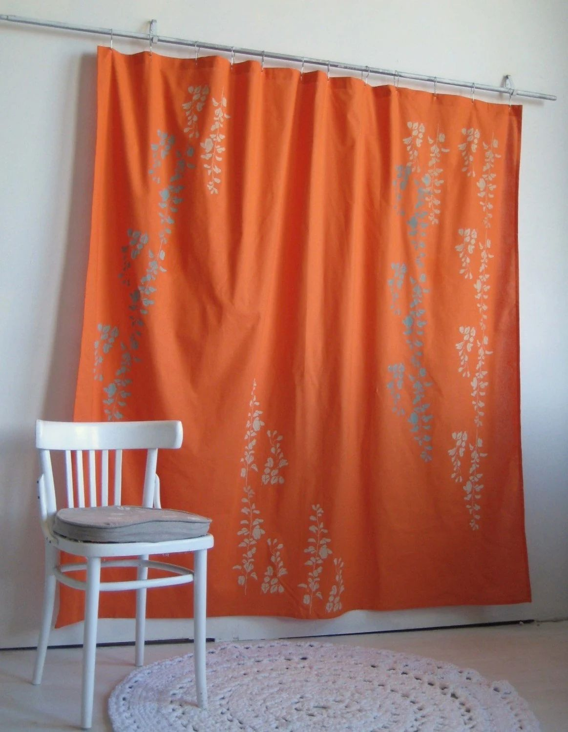 Gray And Orange Shower Curtain image ideas - Home Ideas For your Home