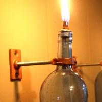 Blue Wine Bottle Oil Lamp - INDOOR - Modern Lighting - gift