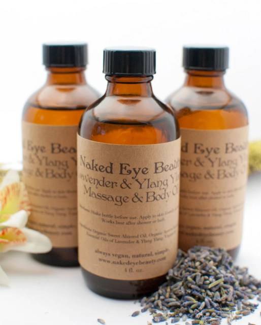 Naked Eye Beauty's Organic Lavander &amp; Ylang Ylang Body Oil