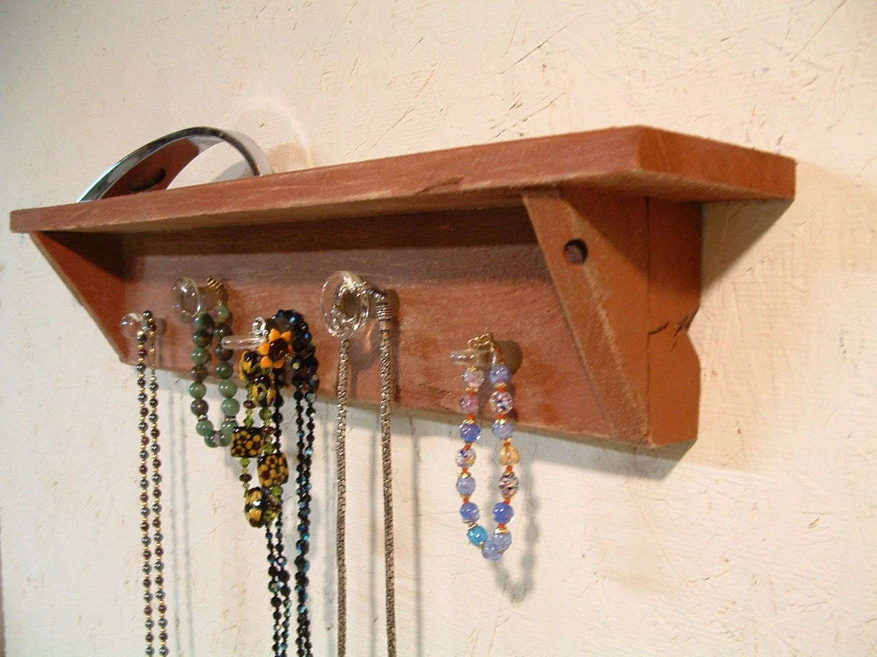 Wooden Key Holder With Shelf Wooden Key Rack