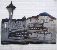 Seattle Skyline metal wall art   FotoFuze