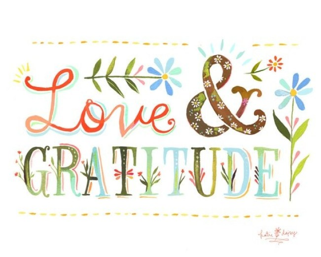Love and Gratitude 8x10 print