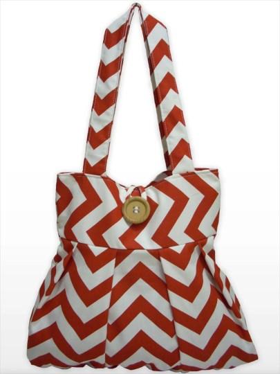 Chevron print bag from MelenArt Bags on Etsy