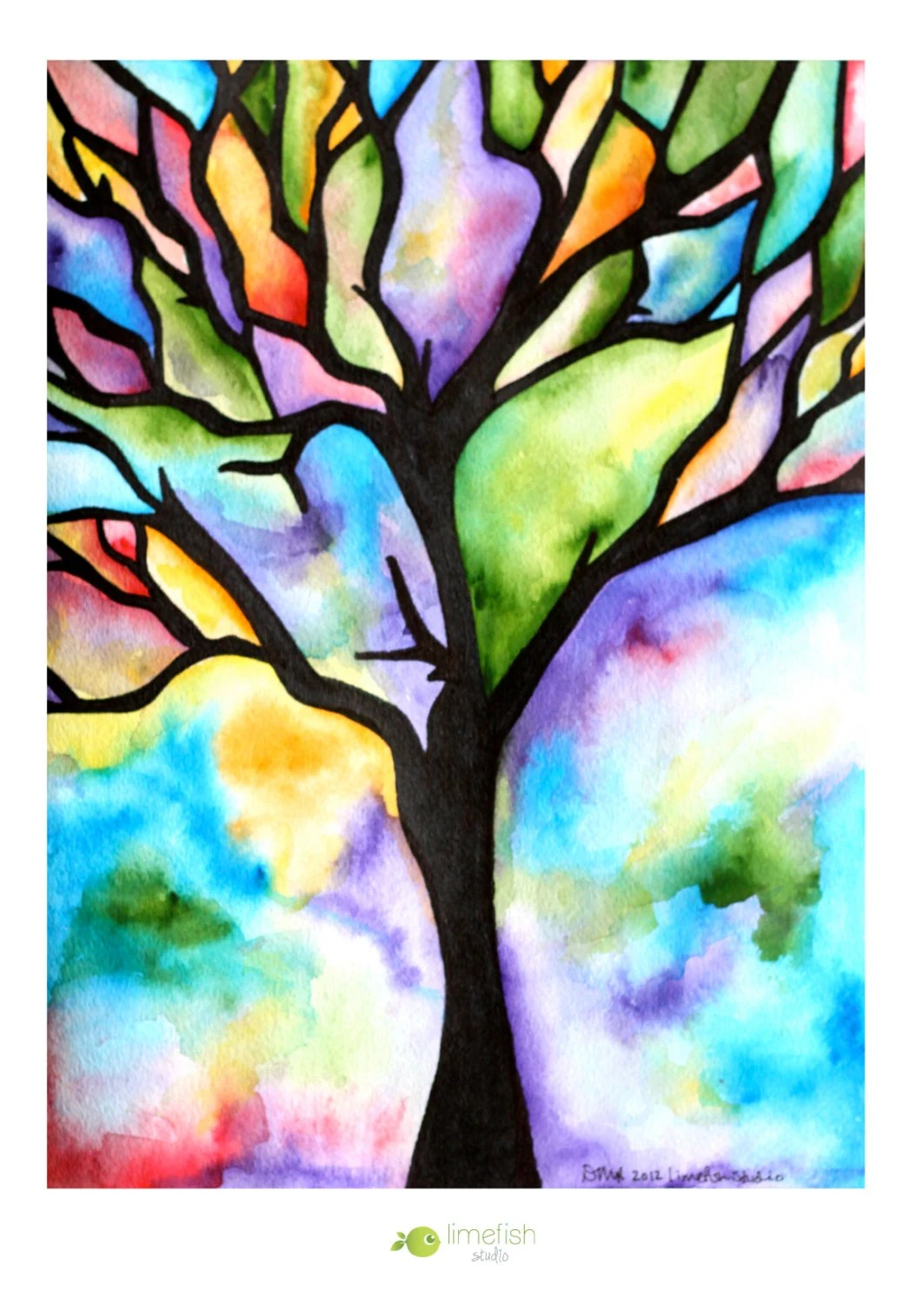 Tree Drawing With Watercolor Recreation Therapy Ideas Watercolor Trees