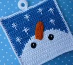 Free Crochet Snowman Potholder Pattern