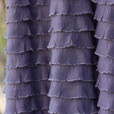 Steel Orchid Cascading Ruffle Fabric, 1 yd total