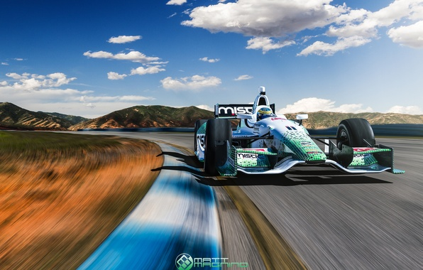 Goodfon Wallpaper Car Wallpaper Track The Car In Motion Race Indycar Images