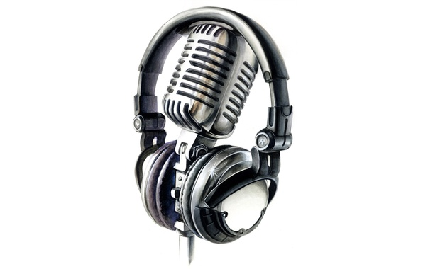 Anime Girls Headphones And Radio 1920x1080 Wallpaper Wallpaper Microphone White Background Headphones Images