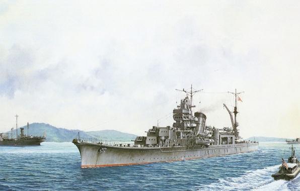 Anime Wallpaper For Ps Vita Wallpaper Ship Art Navy Military Cruiser Japanese