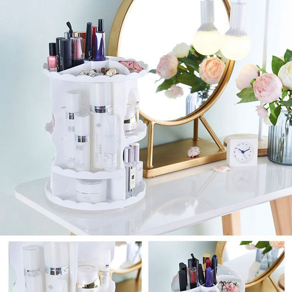 Cosmetic Table Details About Rotating Cosmetic Shelf Dressing Table Storage Rack
