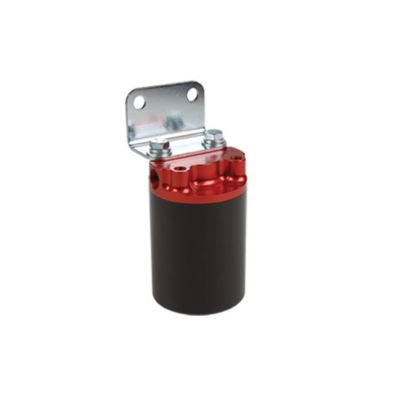 Aeromotive 12317 10 Micron, Red/Black Canister Fuel Filter