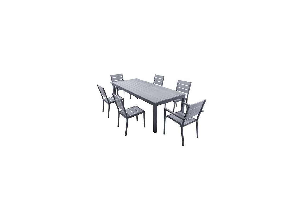Bora Ensemble Table De Jardin 220cm Et 6 Fauteuils | Ensemble Table ...