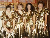 Top 10 Ugliest Bridesmaid Dresses - 6. The Foil Folly ...