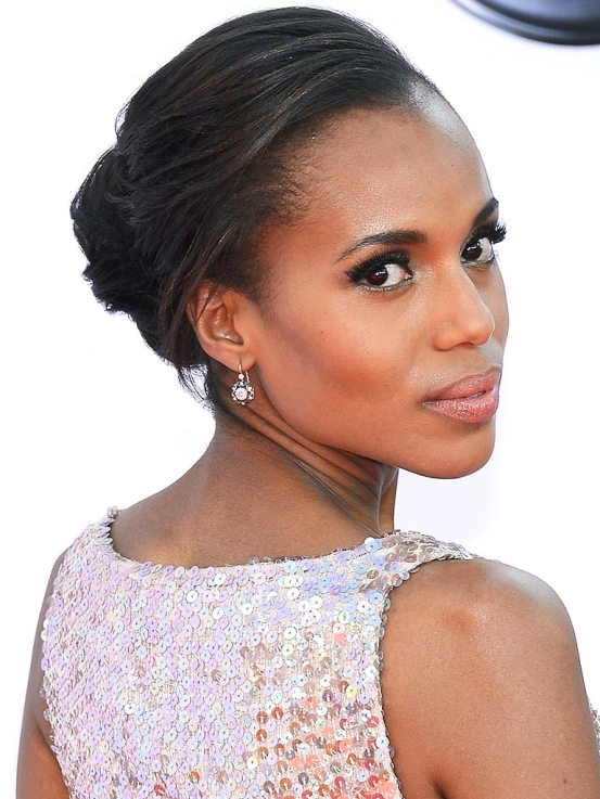 Kerry Washington's Nude Lipsticks: Kerry Washington wore Dior Rouge Lipstick 314 in Angelique Beige at the 2013 Emmys