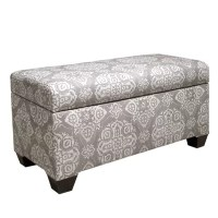 Skyline Furniture Upholstered Storage Entryway Bench ...