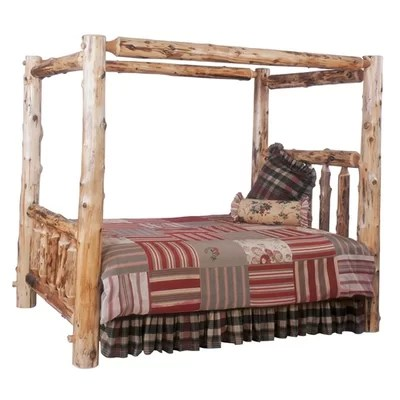 Traditional Cedar Log Four Poster Bedroom Collection Wayfair