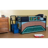DHP Football Stadium Curtain Set for Junior Loft Bed ...