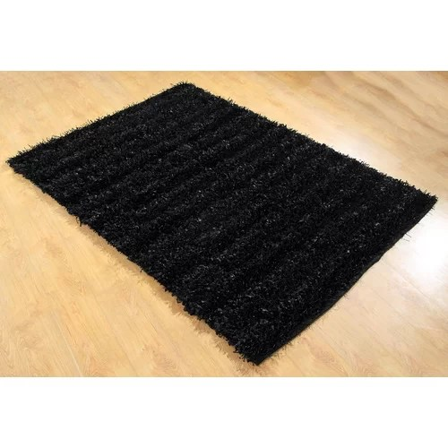 Chesapeake Seabury Black Shag Area Rug & Reviews