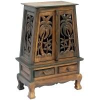Tropical Wood Cabinet   Wayfair