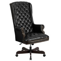 FlashFurniture High-Back Leather Executive Office Chair ...