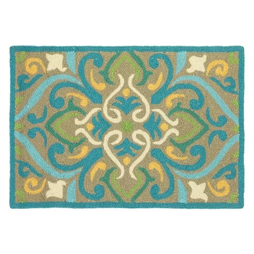 Company C Company C Morocco Aqua Rug & Reviews | Wayfair