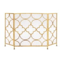 Woodland Imports Metal Fireplace Screen & Reviews ...