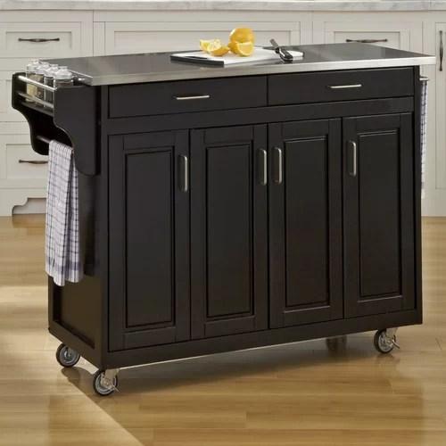 cart kitchen island stainless steel top reviews wayfair furniture cambridge stainless steel top kitchen island white