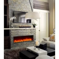 """Dynasty 55"""" Built-in LED Electric Fireplace & Reviews ..."""
