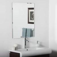 Vera Frameless Bathroom Mirror   Wayfair