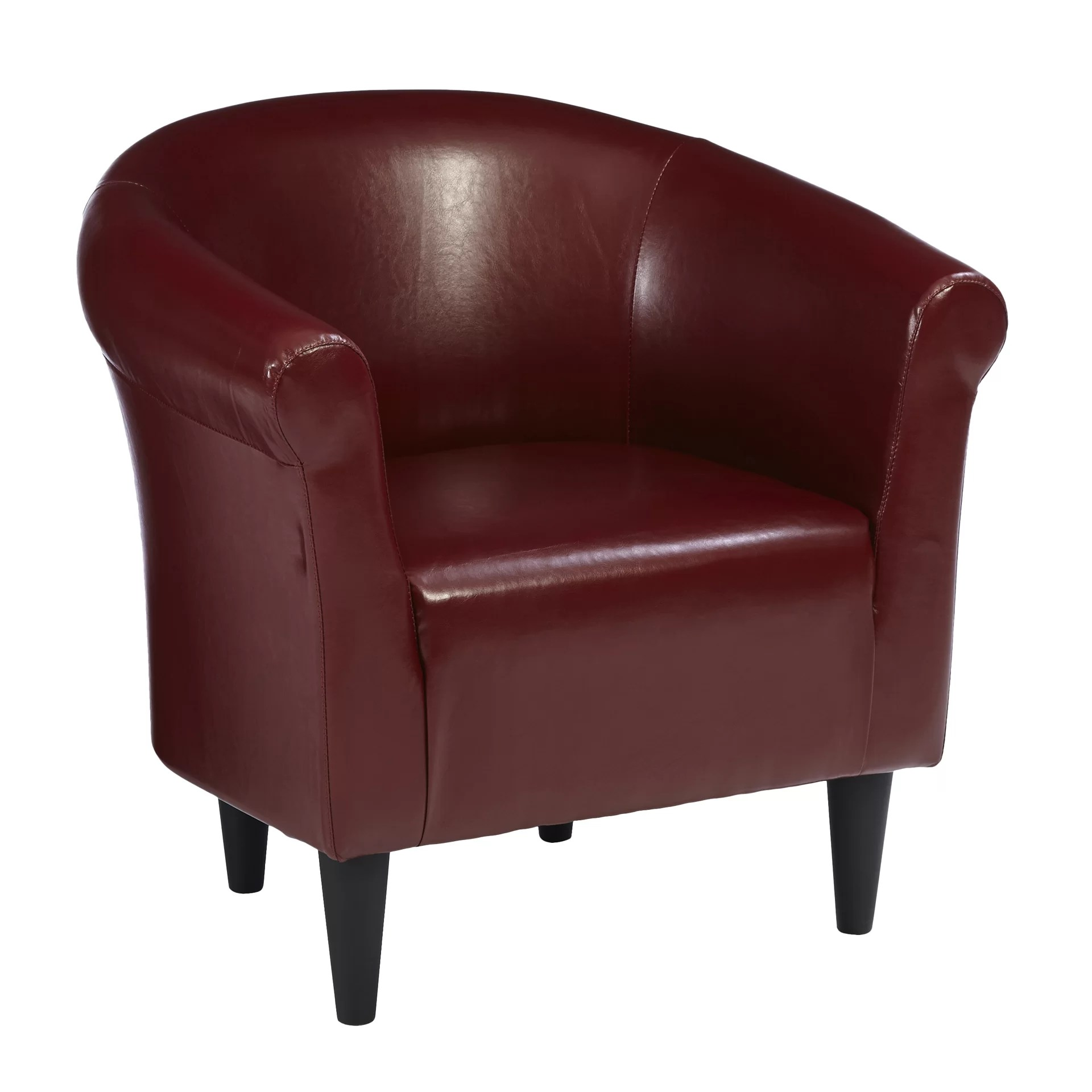 Comfortable Den Furniture Modern Merlot Accent Club Chair Living Room Den Bedroom