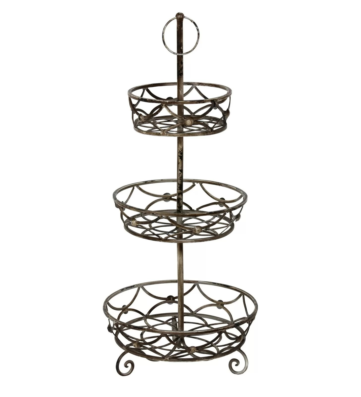 Table Top Fruit Basket New Iron 3 Tier Scroll Basket Stand 30 Quot Decorative Metal