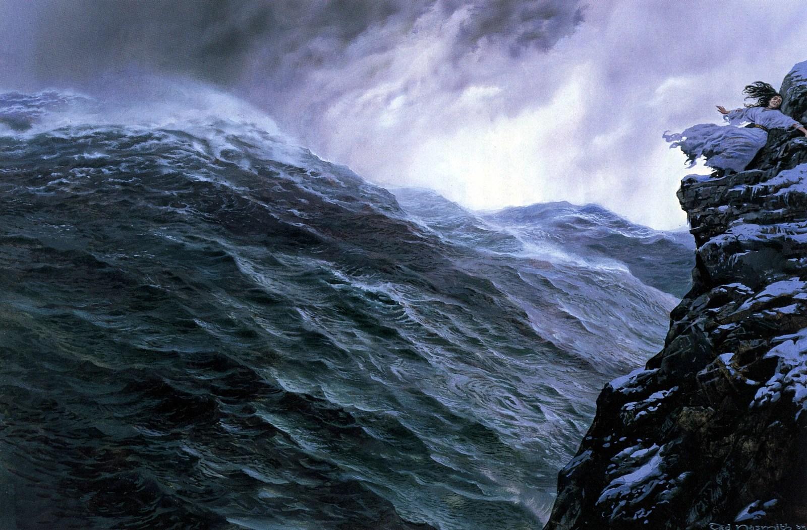 Lotr Fall Wallpaper Image Ted Nasmith The Silmarillion 3 Akallabeth The