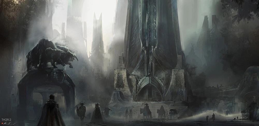 Skyrim Fall Wallpaper Hd Image Thor The Dark World Concept Art Jpg Disneywiki