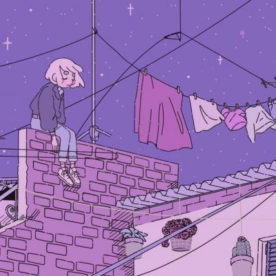 Hd Lavender Wallpaper 高清简约的动漫女生头像 拥有一 卡通动漫头像 我要个性网