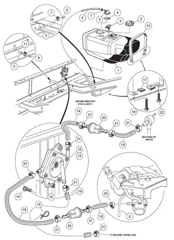 gas club car carry all wiring diagram